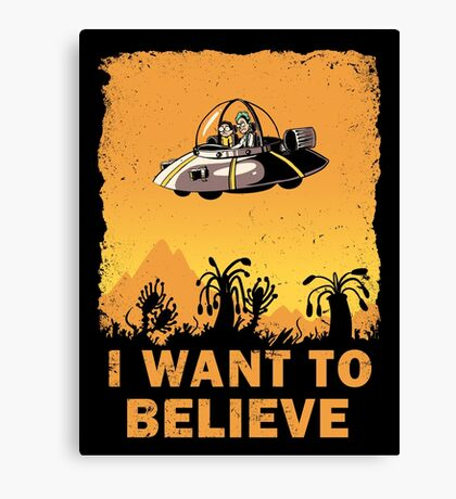 I Want to Believe, Morty Canvas Print