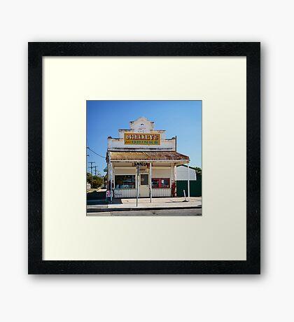 The Corner  Shop Framed Print