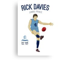 Rick Davies -  Sturt (on Oatey Blue) Canvas Print