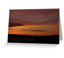 Sunset overlooking Lelant  Greeting Card