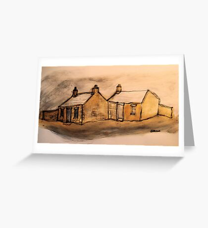oldcottages in wales.... Greeting Card