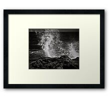 Playing peek a boo with the sea Framed Print
