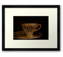 dainty cup and saucer  Framed Print