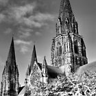 Spooky St Mary&#x27;s ~ Infra Red  ~ by Sandra Cockayne