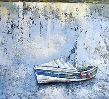 Pilot Me B in the Harbour, Staithes by Sue Nichol