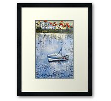 Pilot Me B in the Harbour, Staithes Framed Print