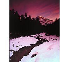 Tahoma Sunrise Photographic Print