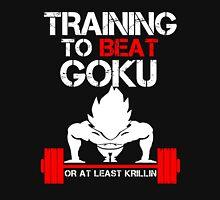 Training to Beat Goku - Vegeta Black T-Shirt