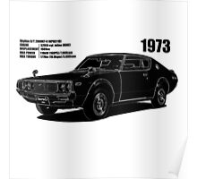Datsun Nissan 240K - Black Shadow Poster