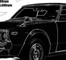 Datsun Nissan 240K - Black Shadow Sticker