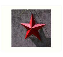 Red star Art Print