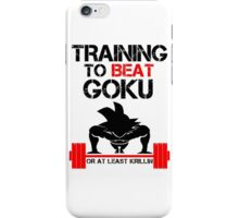 Training to Beat Goku - Goku White iPhone Case/Skin