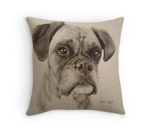 Boxer dog Throw Pillow