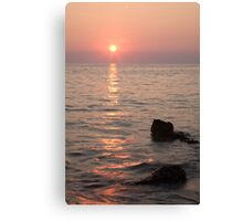 Verudela Beach at sundown Canvas Print