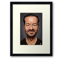 Celebrity Sunday - Ricky Gervais Framed Print