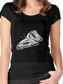 Butterfly Tee Women's Fitted Scoop T-Shirt