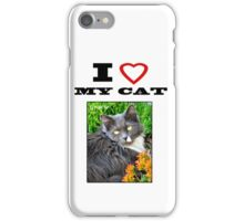 I LOVE MY CAT - Gracie iPhone Case/Skin