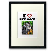I LOVE MY CAT - Gracie Framed Print