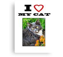 I LOVE MY CAT - Gracie Canvas Print