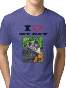 I LOVE MY CAT - Gracie Tri-blend T-Shirt