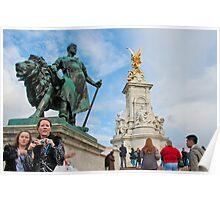 Queen Victoria Memorial: Buckingham Palace, London. UK. Poster
