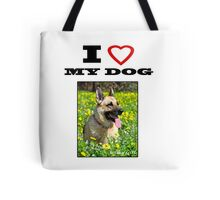 I Love MY DOG - Jersey Girl Tote Bag