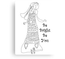 Paint your own .. Be Bright Be You T'shirt by Jennifer Plozza (at 7yrs old) Metal Print