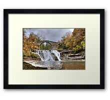 Brusia Bridge and Waterfall Framed Print