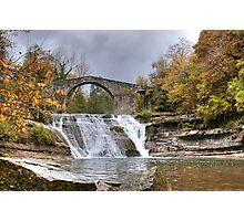 Brusia Bridge and Waterfall Photographic Print