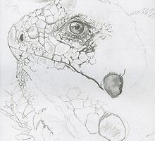 iguana by delonte089