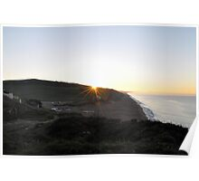 October Sunrise over Burton Bradstock beach in Dorset Poster