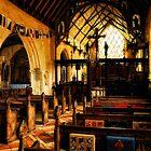 Inside Barsham Holy Trinity Church,  by Karen  Betts
