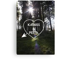 Katniss & Peeta <3 - Forest (personalisation available) Canvas Print