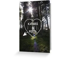 Katniss & Peeta <3 - Forest (personalisation available) Greeting Card
