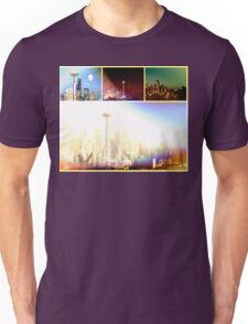 Funky Space Needle Collage Unisex T-Shirt