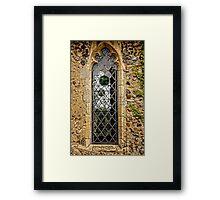 Leaded window (Barsham Church) Framed Print