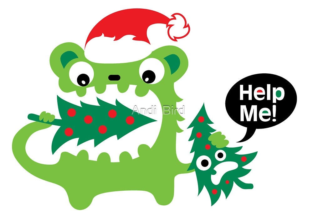 Help Me Christmas card by Andi Bird