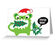 Help Me Christmas card Greeting Card