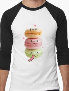 Funny Macarons Men's Baseball ¾ T-Shirt