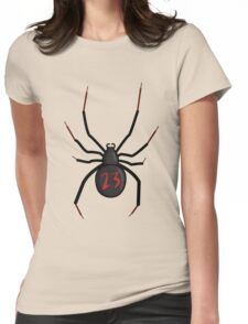 Lucky Number Black Widow Womens Fitted T-Shirt