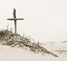 Crosses - A Small Hill of Crosses in Dunes by VArt