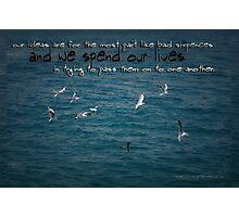 Life's Lessons © Vicki Ferrari Photographic Print