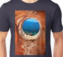 Window to the Ionian Sea Unisex T-Shirt