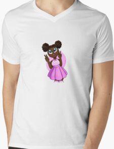 Black Barbie Mens V-Neck T-Shirt