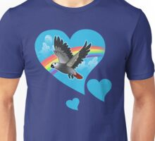 Rainbow bridge african grey parrot Unisex T-Shirt
