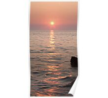 Pink sunset over the Istrian peninsula Poster