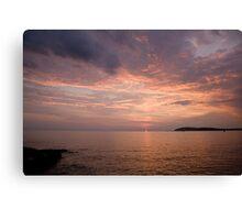 Sundown over the Adriatic coastline Canvas Print