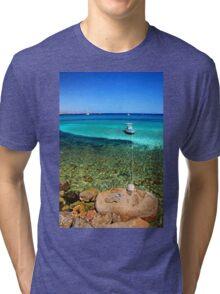 Hold me tight - Kos island Tri-blend T-Shirt