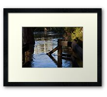 go down to the river Framed Print