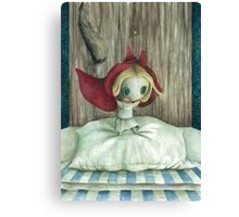 Dafne the ragdoll - Red Riding Hood Canvas Print